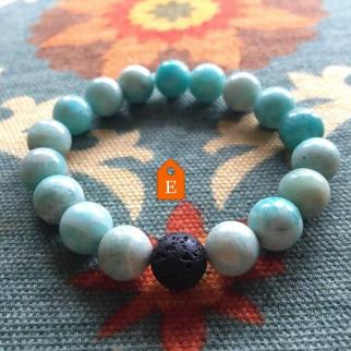 yoga jewelry teal amazonite bracelet